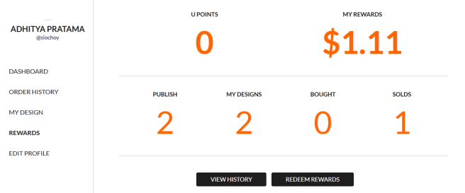 Yeay! Design kaos gue ada yang laku satu, jadi semangat bikin design lagi~